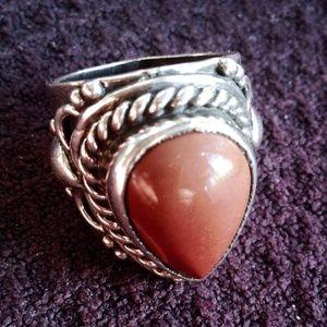 Jewelry - Regalite Jasper Sterling Silver 925 Ring 8.5